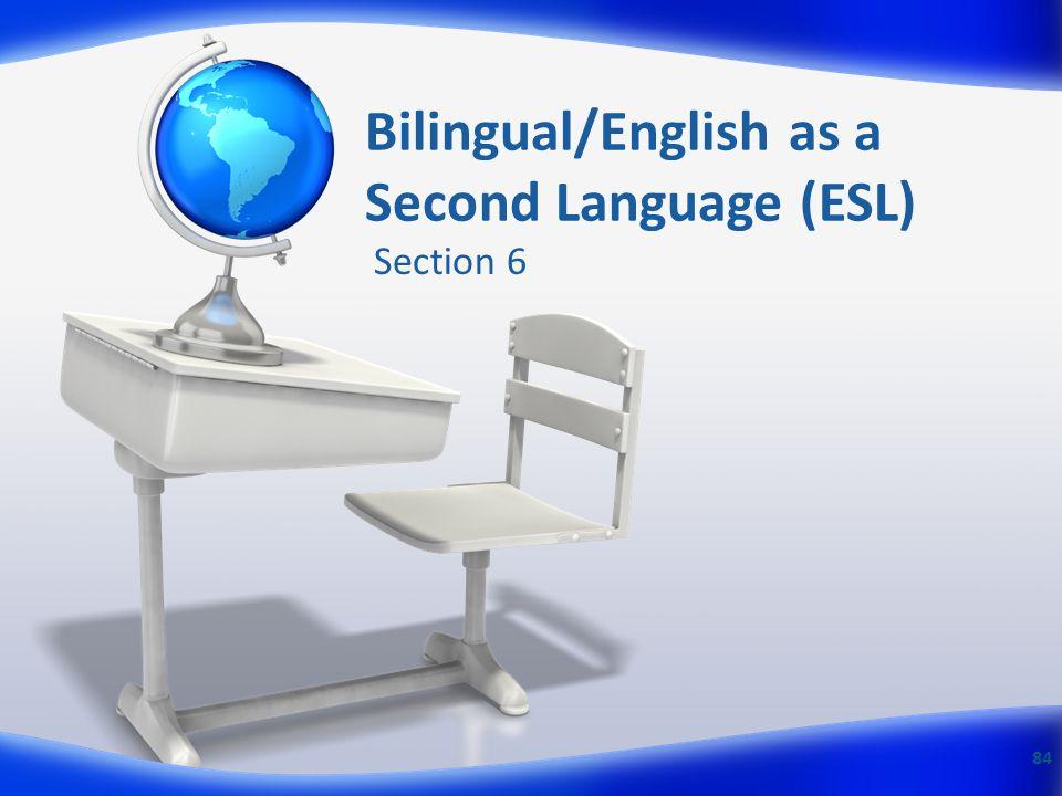 Bilingual/English as a Second Language (ESL)