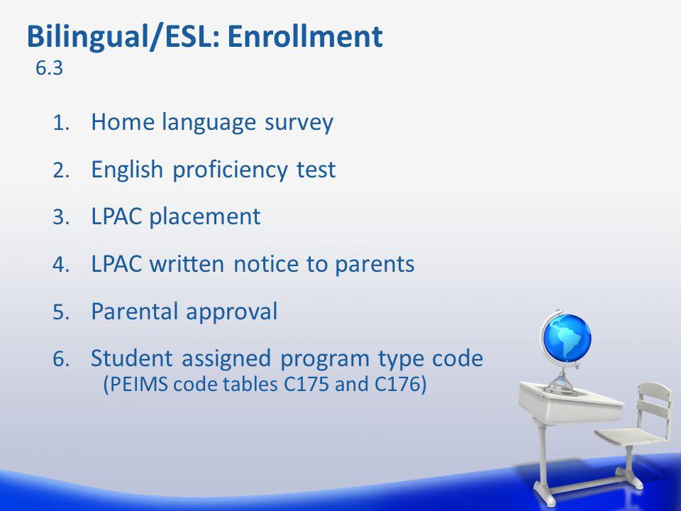 Bilingual/ESL: Enrollment