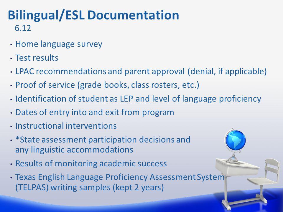 Bilingual/ESL Documentation