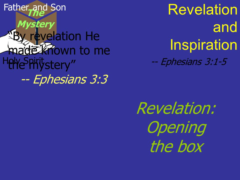Revelation: Opening the box