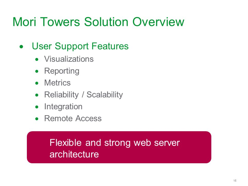 Mori Towers Solution Overview