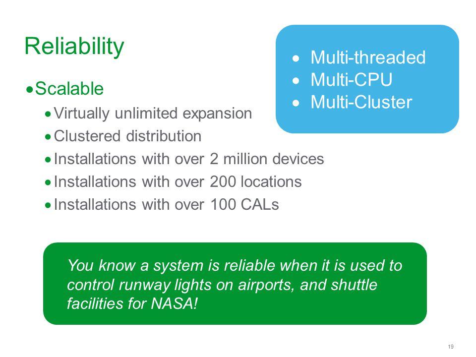 Reliability Multi-threaded Multi-CPU Multi-Cluster Scalable
