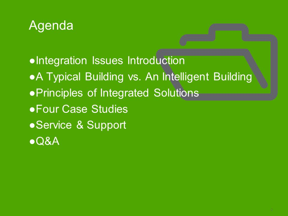 Agenda Integration Issues Introduction