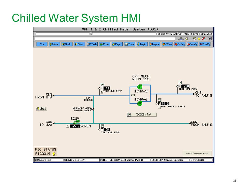 Chilled Water System HMI