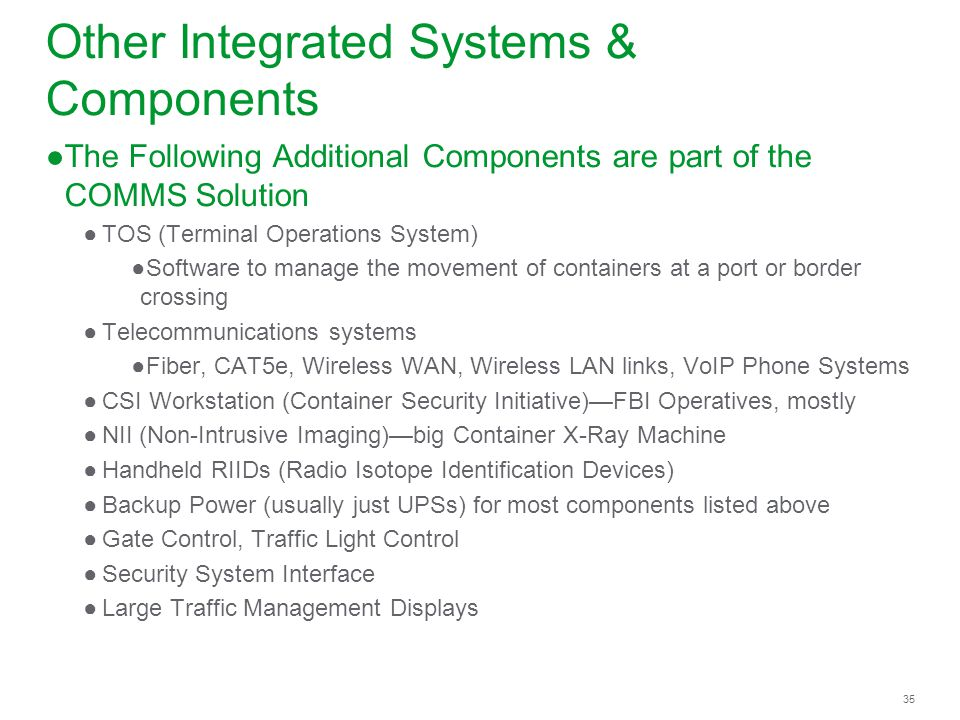 Other Integrated Systems & Components