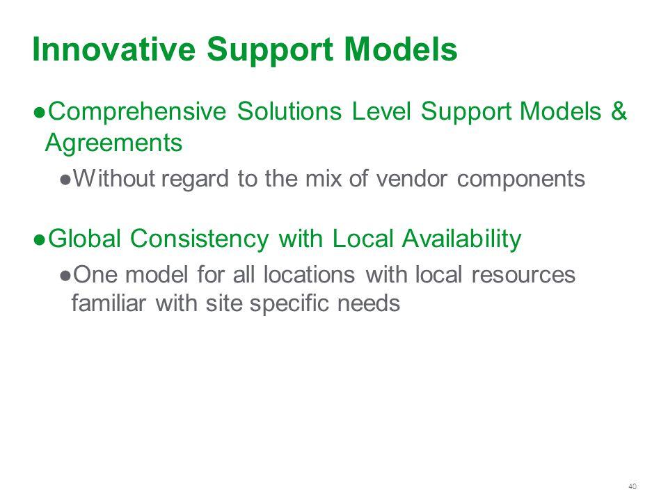 Innovative Support Models