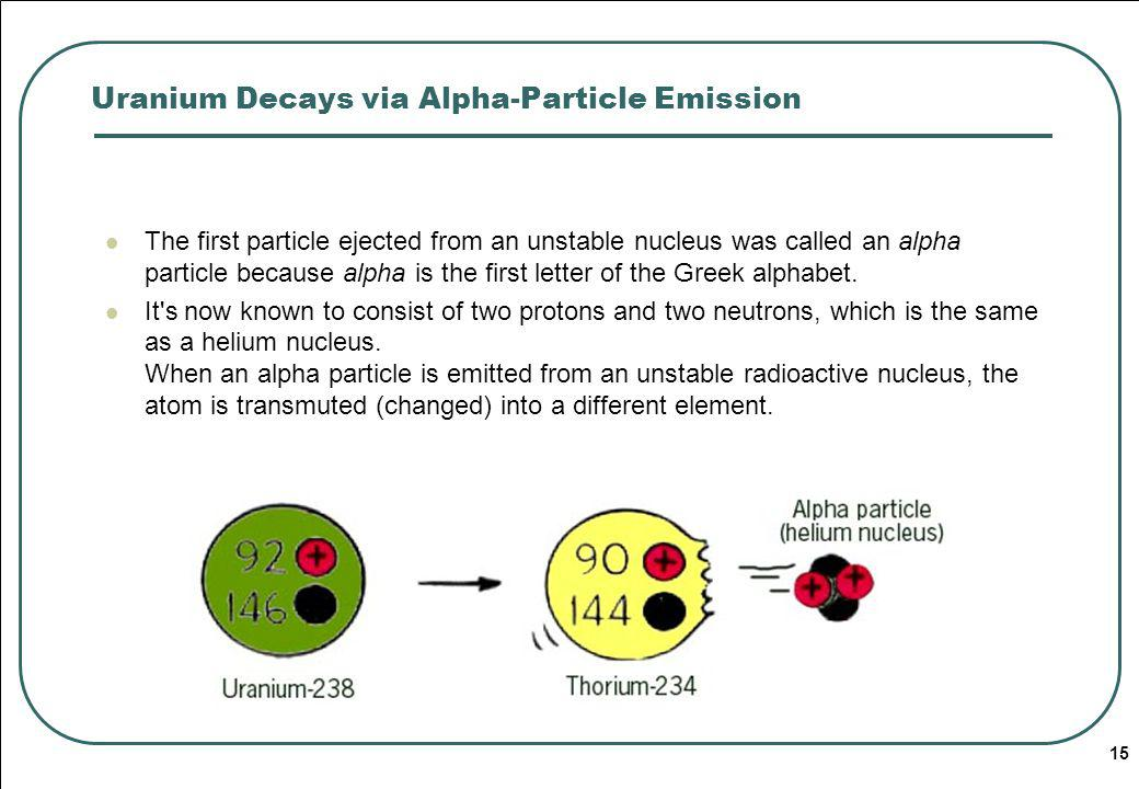 Uranium Decays via Alpha-Particle Emission