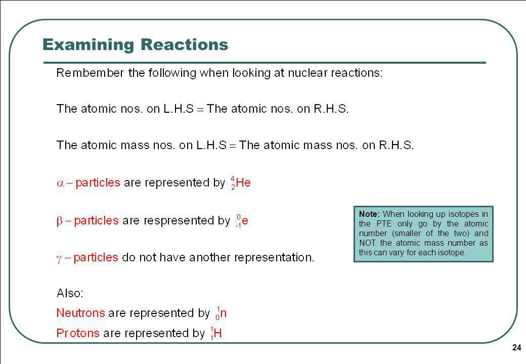 Examining Reactions