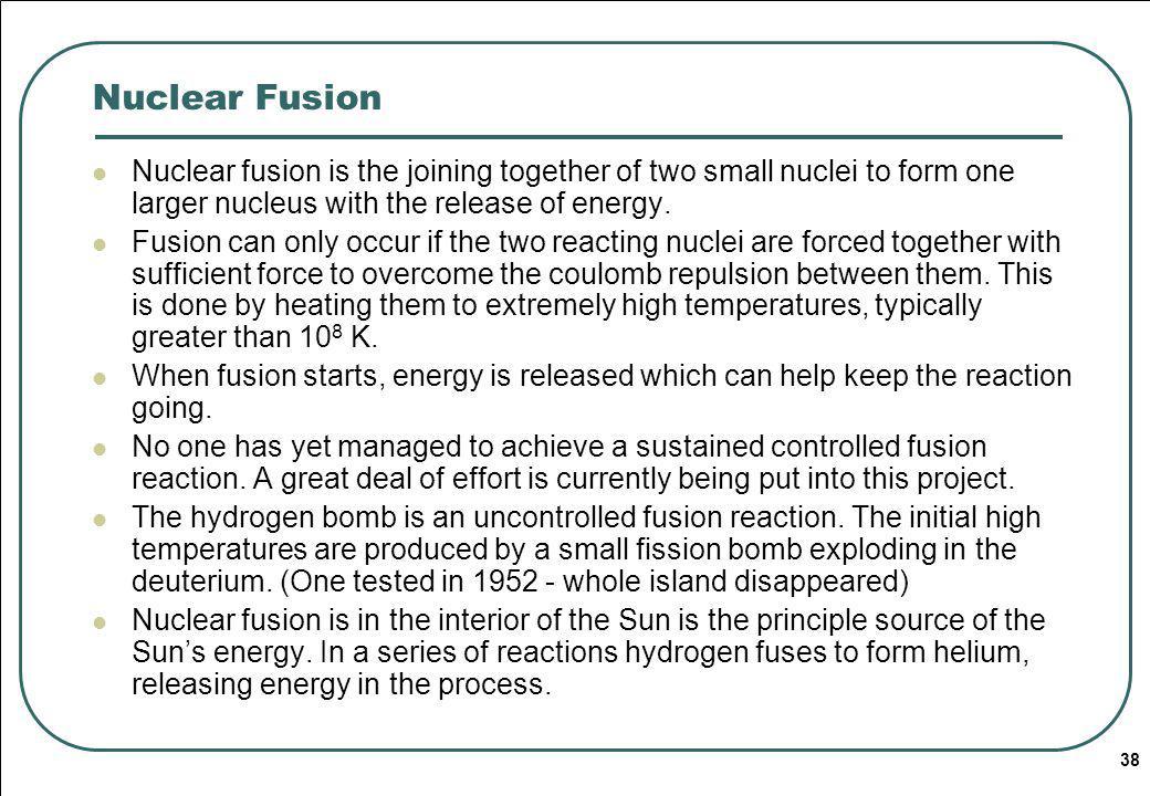 Nuclear Fusion Radioactivity. 01/04/2017.