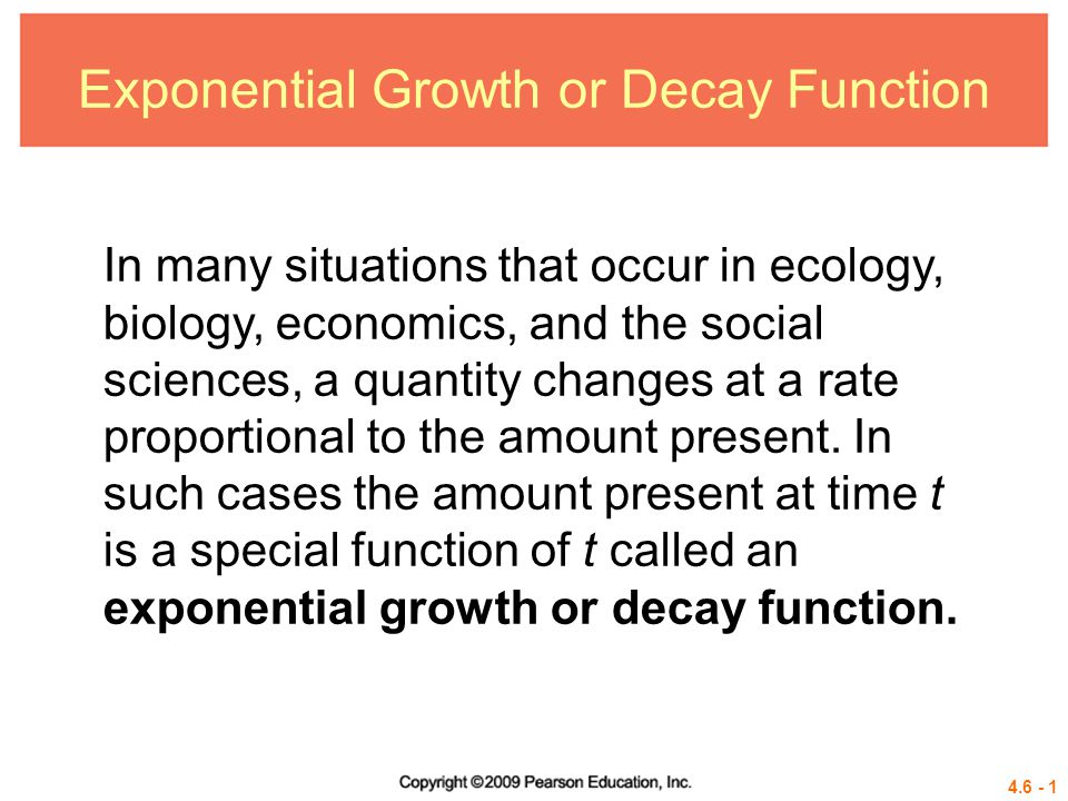 Exponential Growth or Decay Function