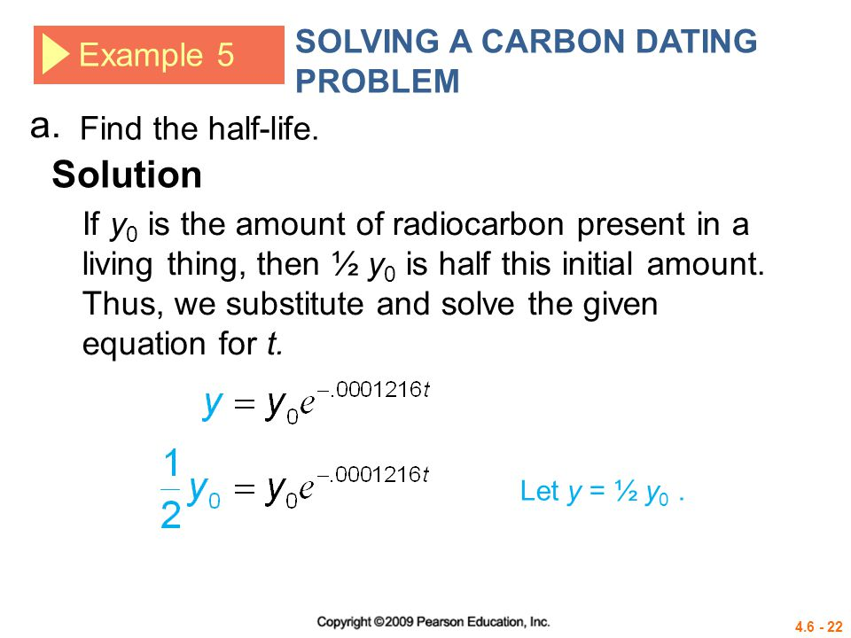 Carbon dating math formula calculator 3