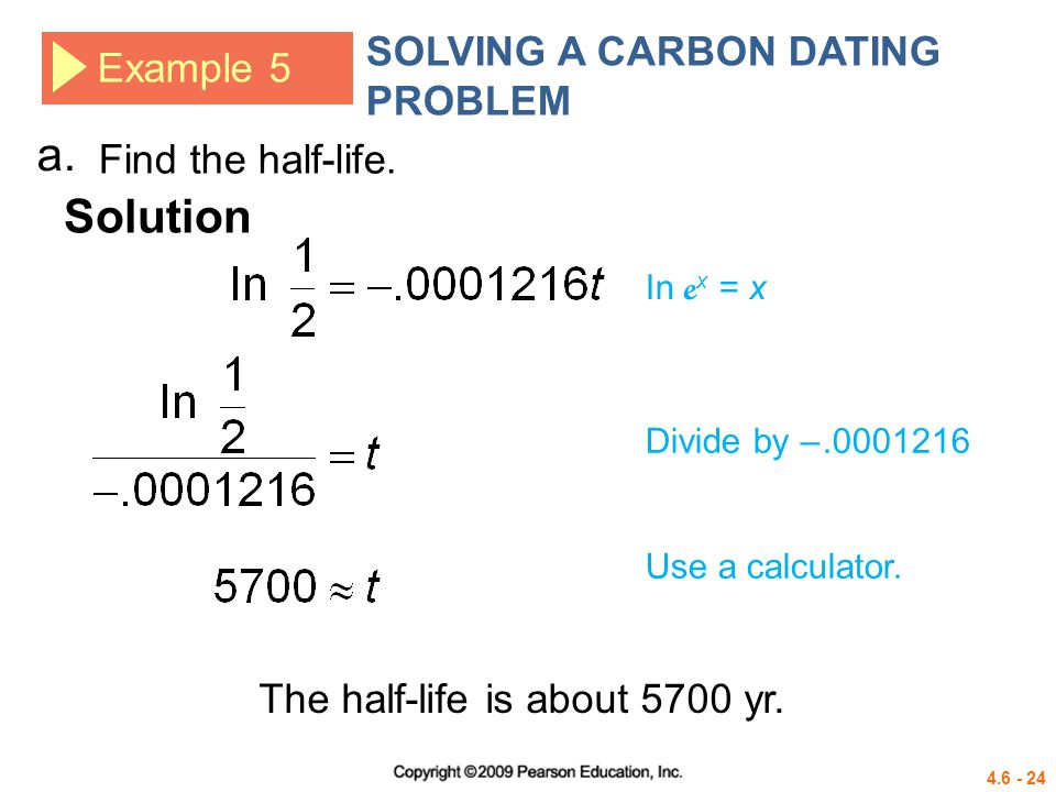Example of radio carbon dating problems