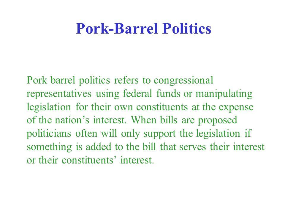Pork-Barrel Politics