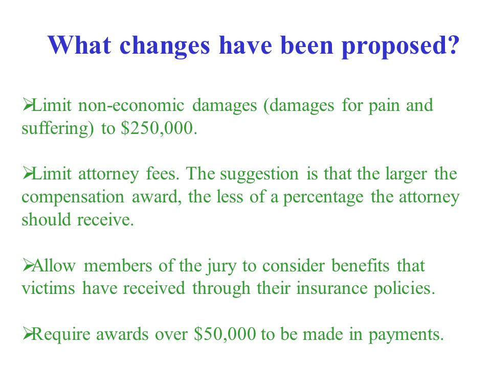 What changes have been proposed
