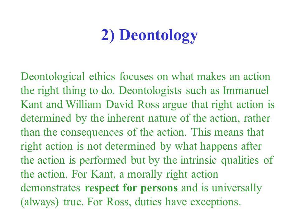 2) Deontology