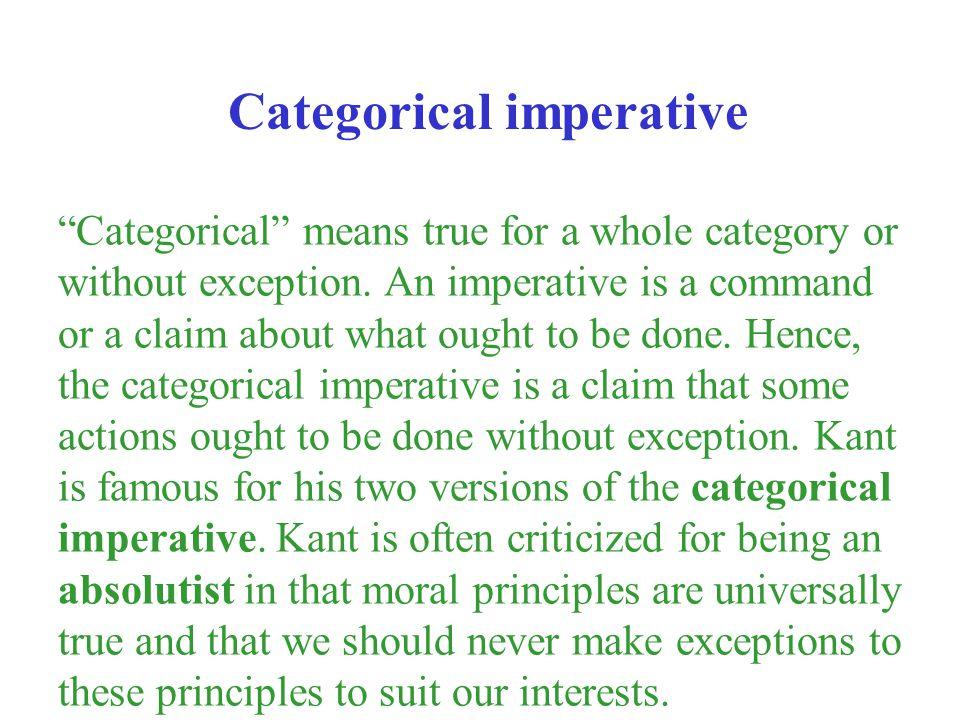 Categorical imperative