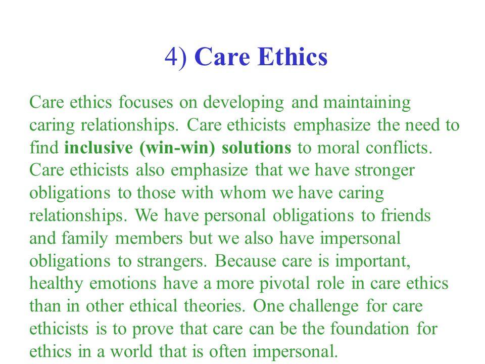 4) Care Ethics