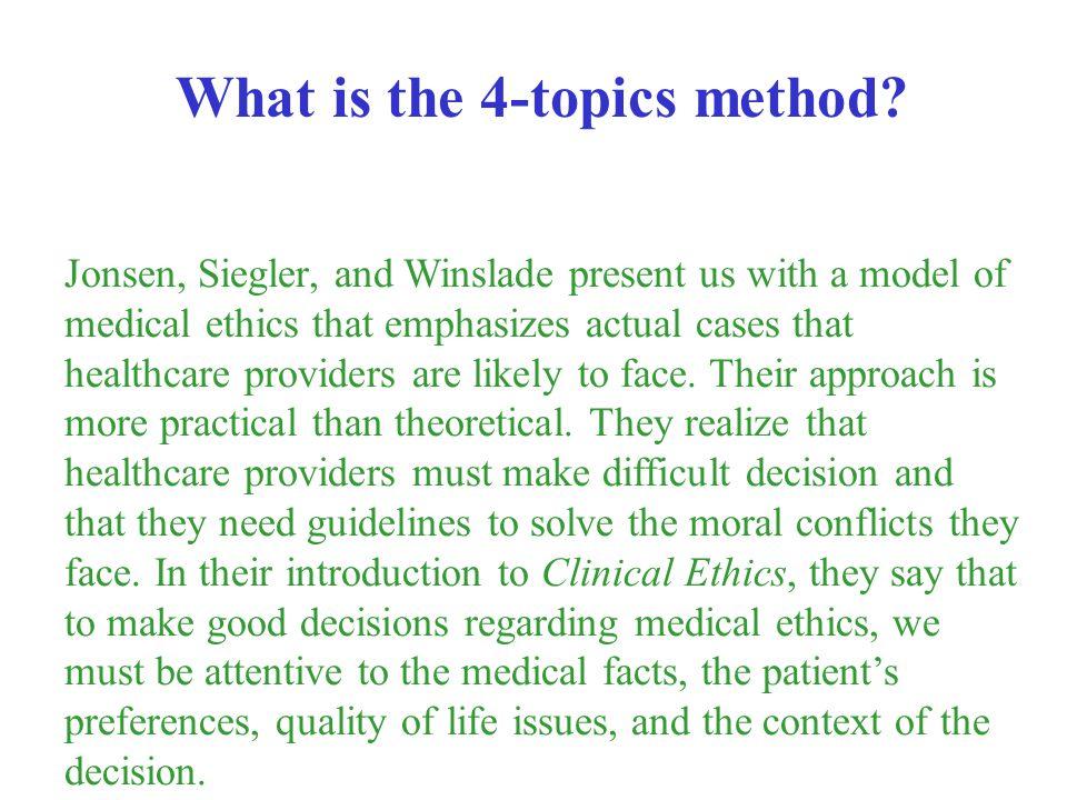 What is the 4-topics method