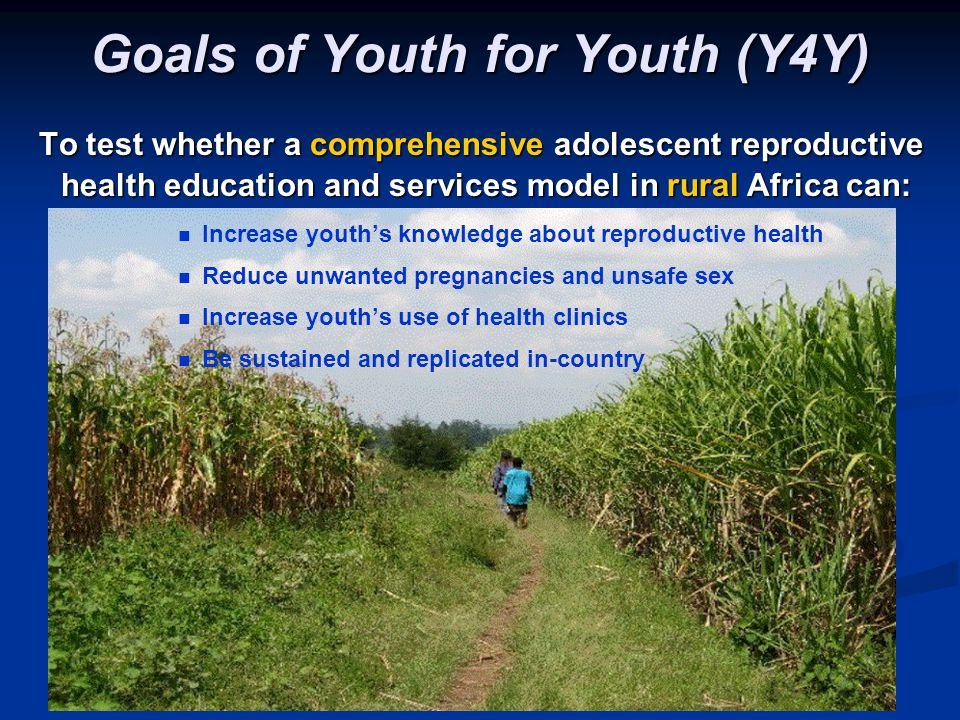 Goals of Youth for Youth (Y4Y)