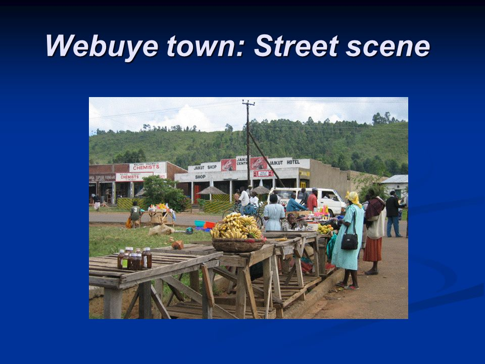Webuye town: Street scene