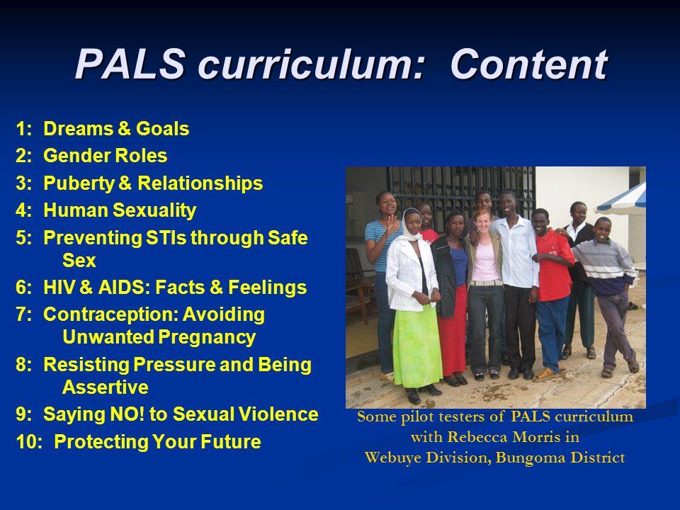PALS curriculum: Content