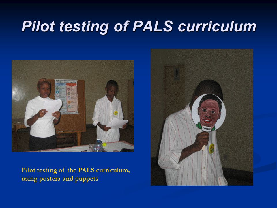 Pilot testing of PALS curriculum