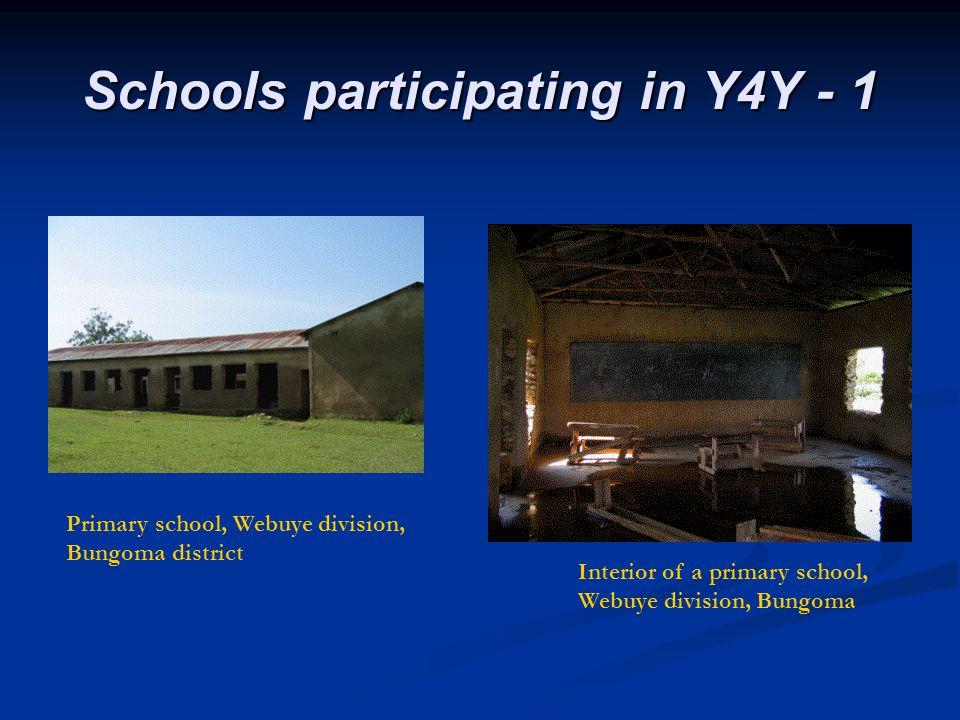 Schools participating in Y4Y - 1