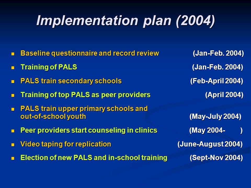 Implementation plan (2004)