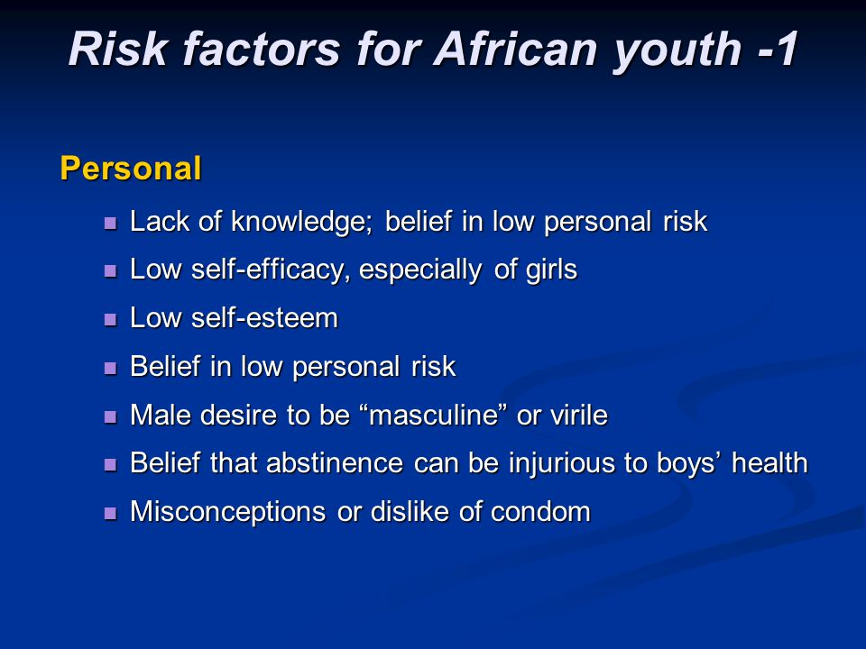 Risk factors for African youth -1