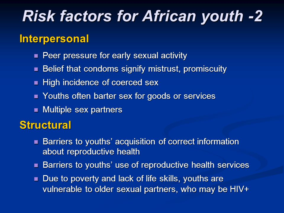 Risk factors for African youth -2