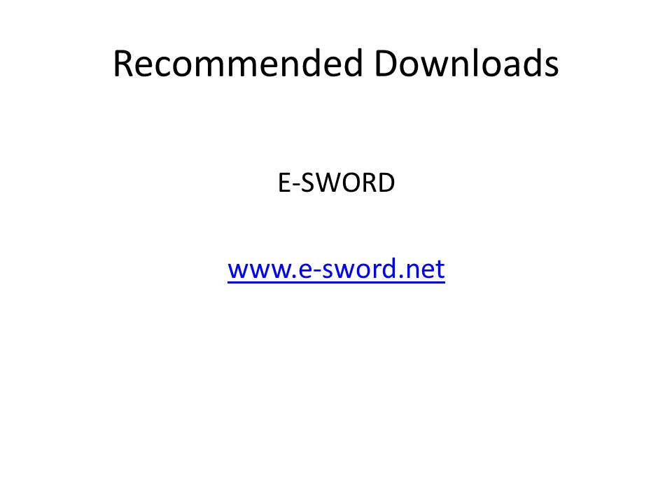 Recommended Downloads