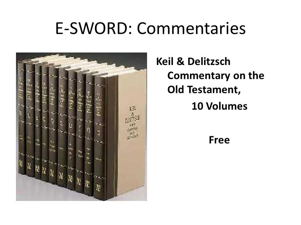 E-SWORD: Commentaries