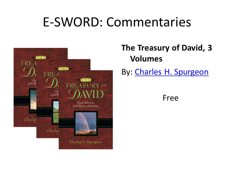 E-SWORD: Commentaries