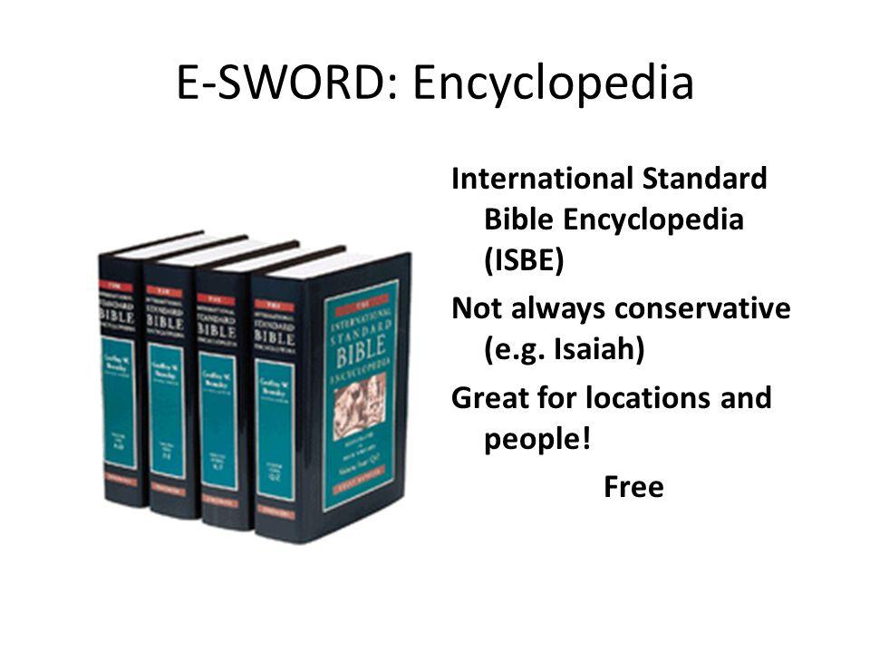 E-SWORD: Encyclopedia