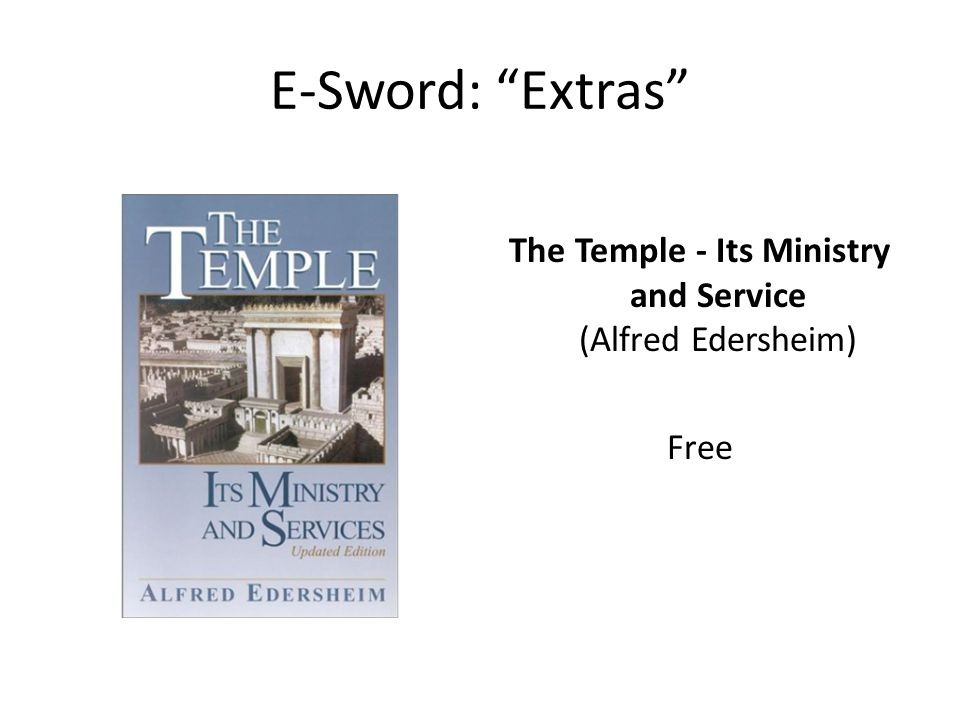 The Temple - Its Ministry and Service (Alfred Edersheim) Free