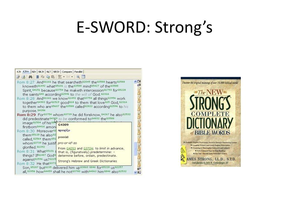 E-SWORD: Strong's
