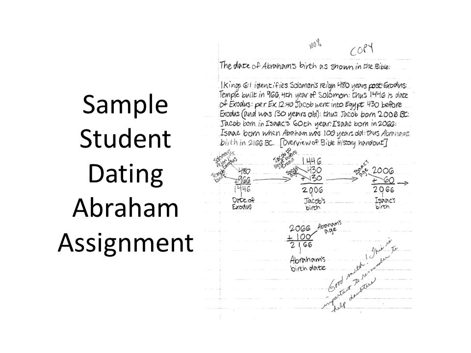 Sample Student Dating Abraham Assignment