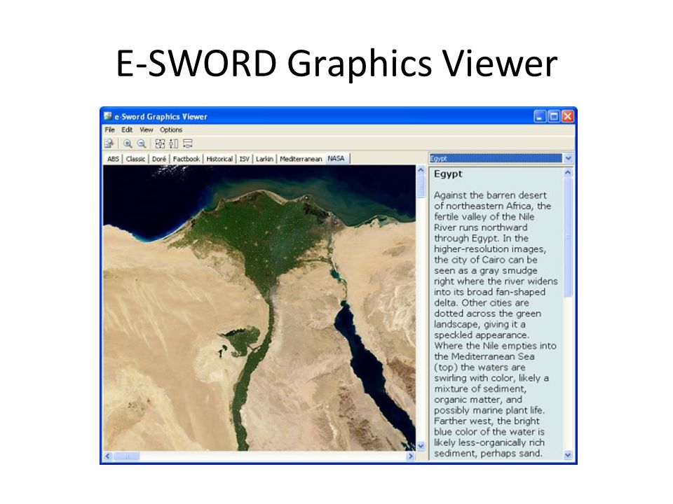 E-SWORD Graphics Viewer