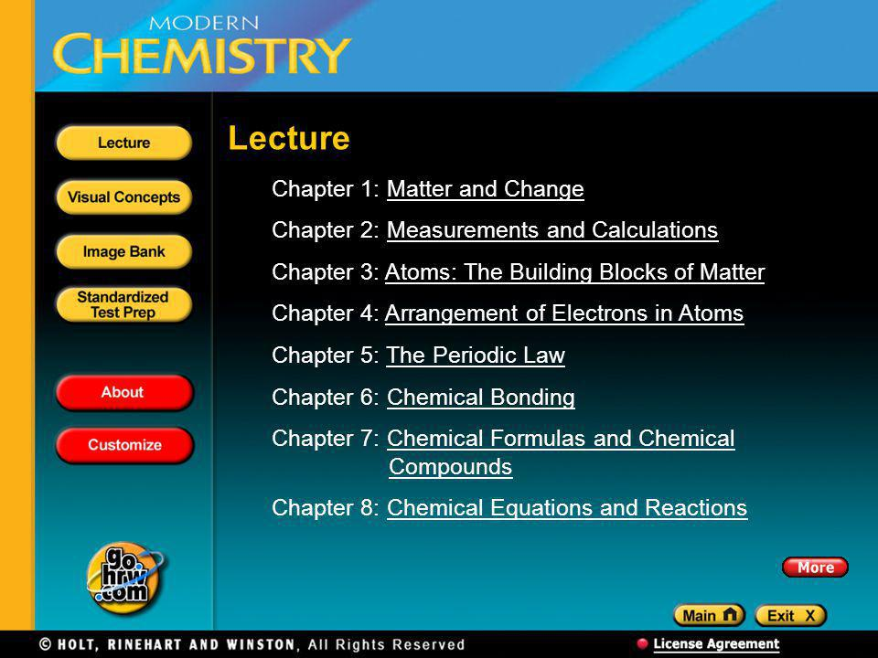 Lecture Chapter 1: Matter and Change