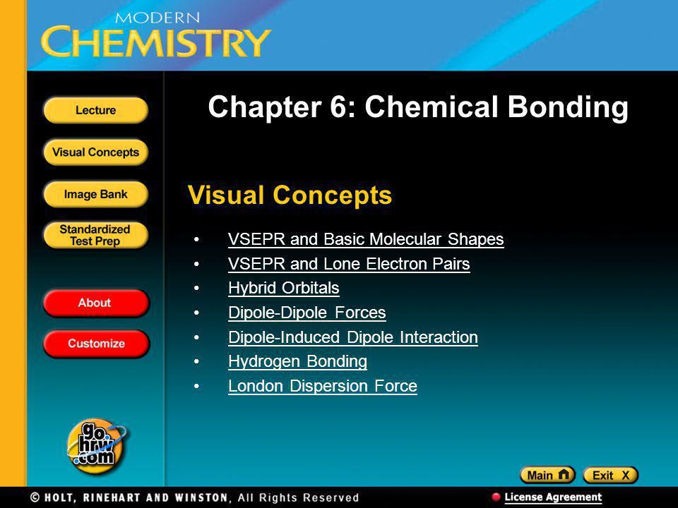 Chapter 6: Chemical Bonding
