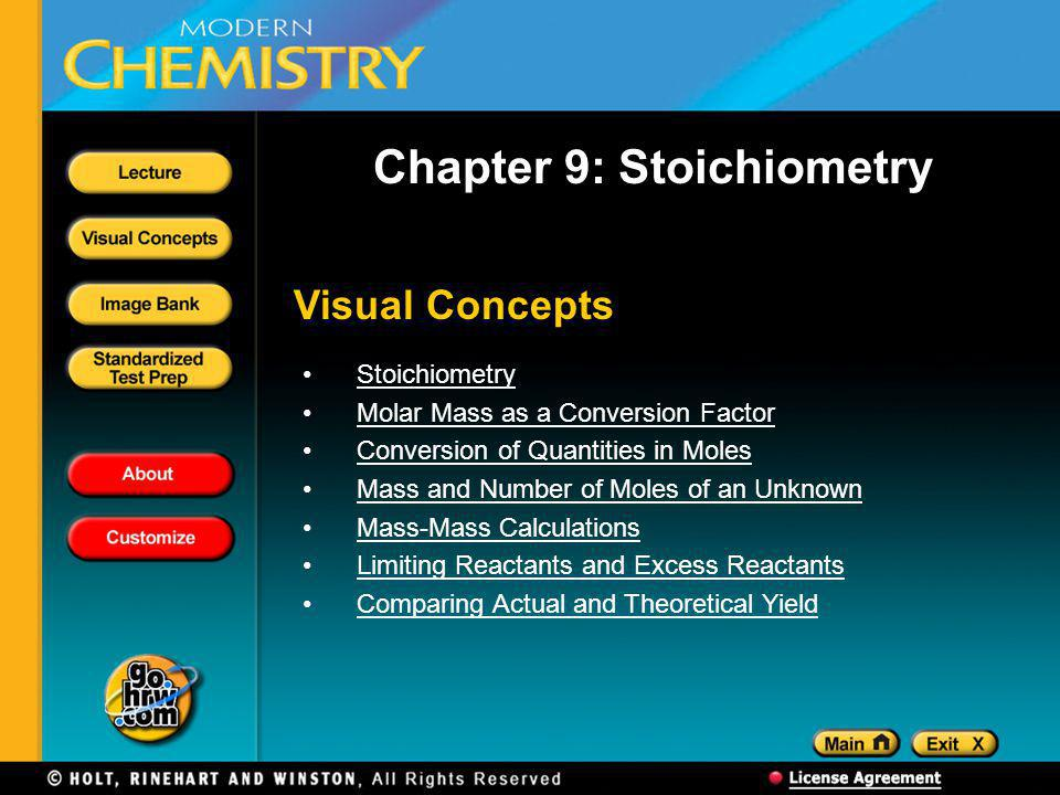 Chapter 9: Stoichiometry