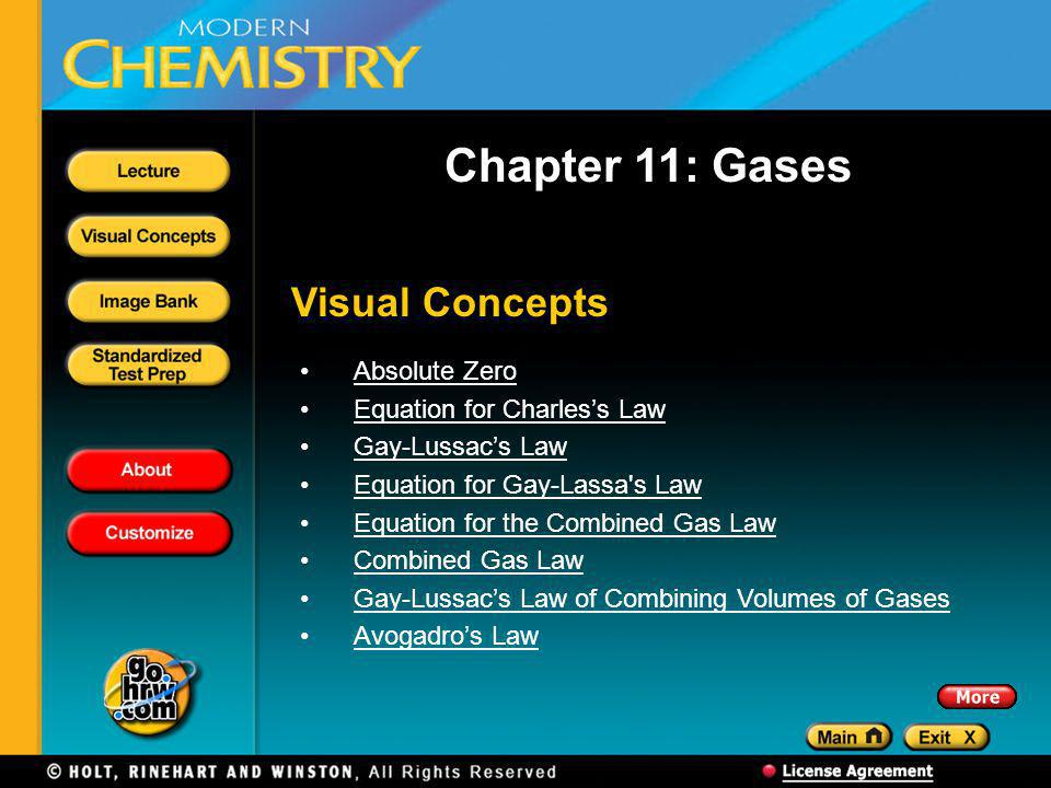 Chapter 11: Gases Visual Concepts Absolute Zero