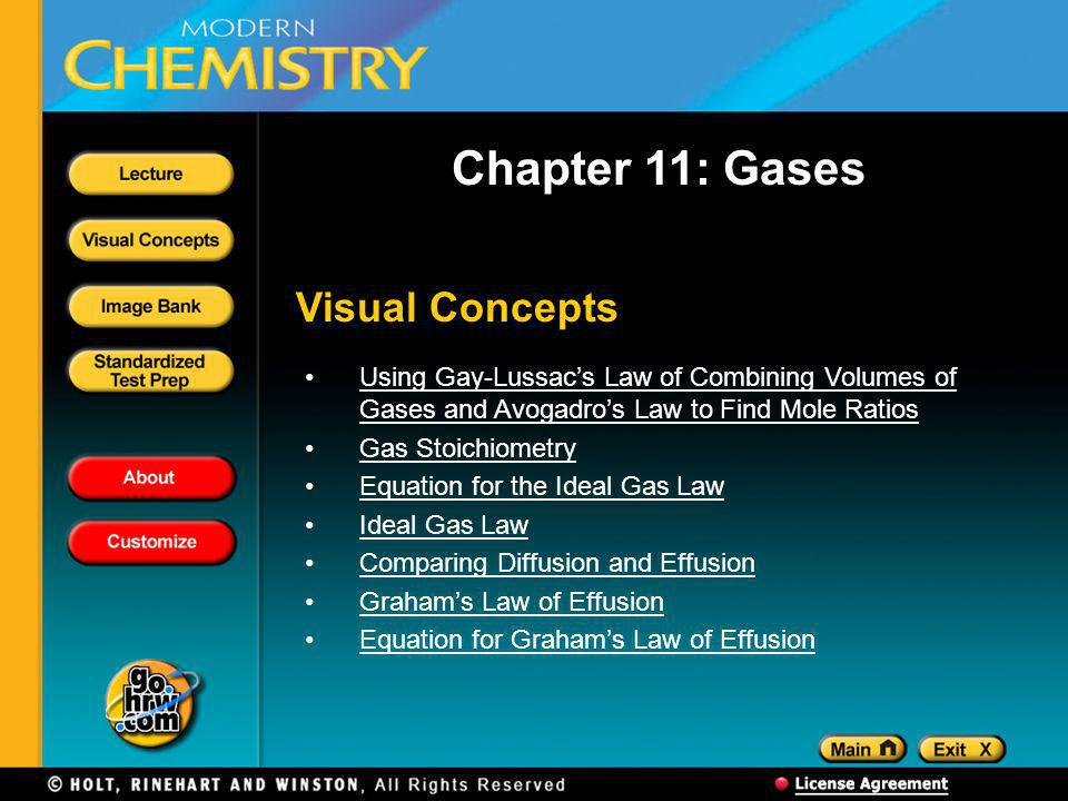 Chapter 11: Gases Visual Concepts