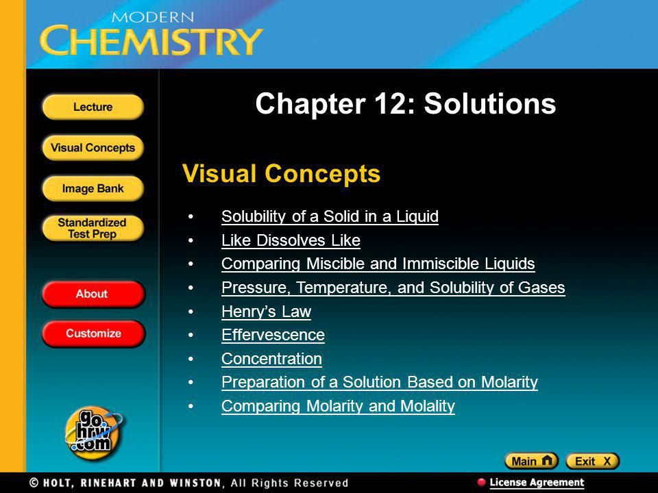 Chapter 12: Solutions Visual Concepts