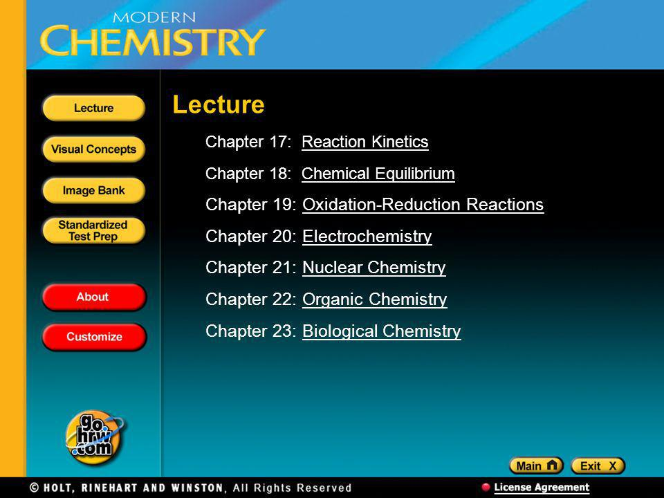 Lecture Chapter 19: Oxidation-Reduction Reactions