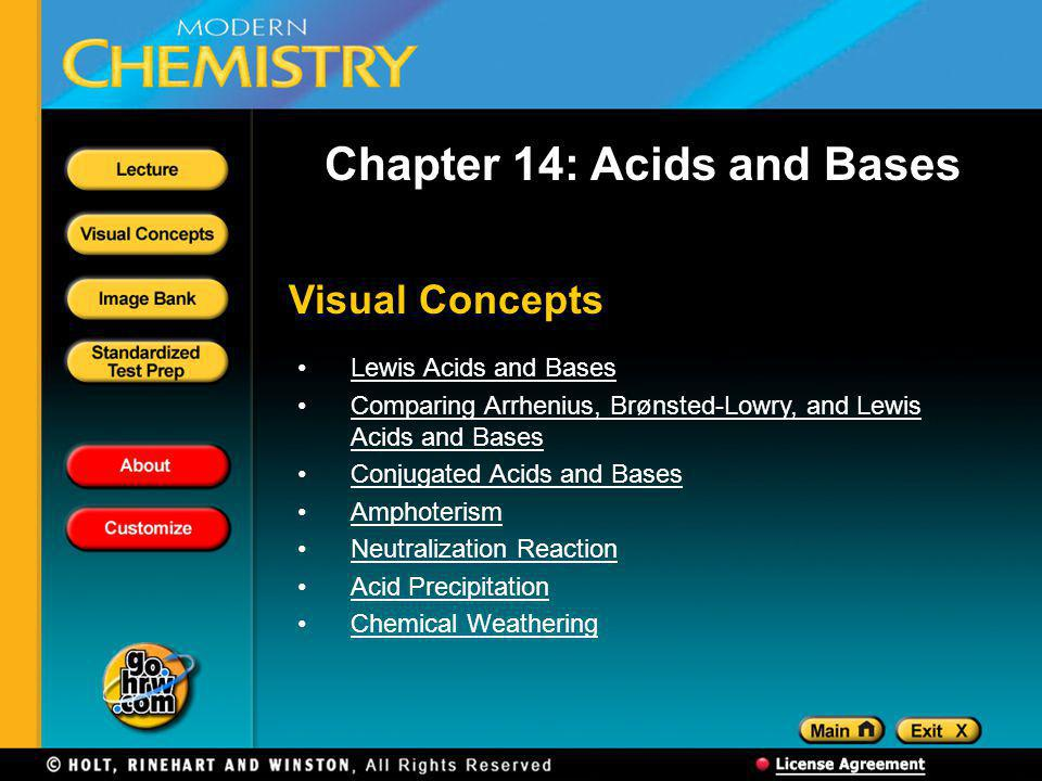 Chapter 14: Acids and Bases