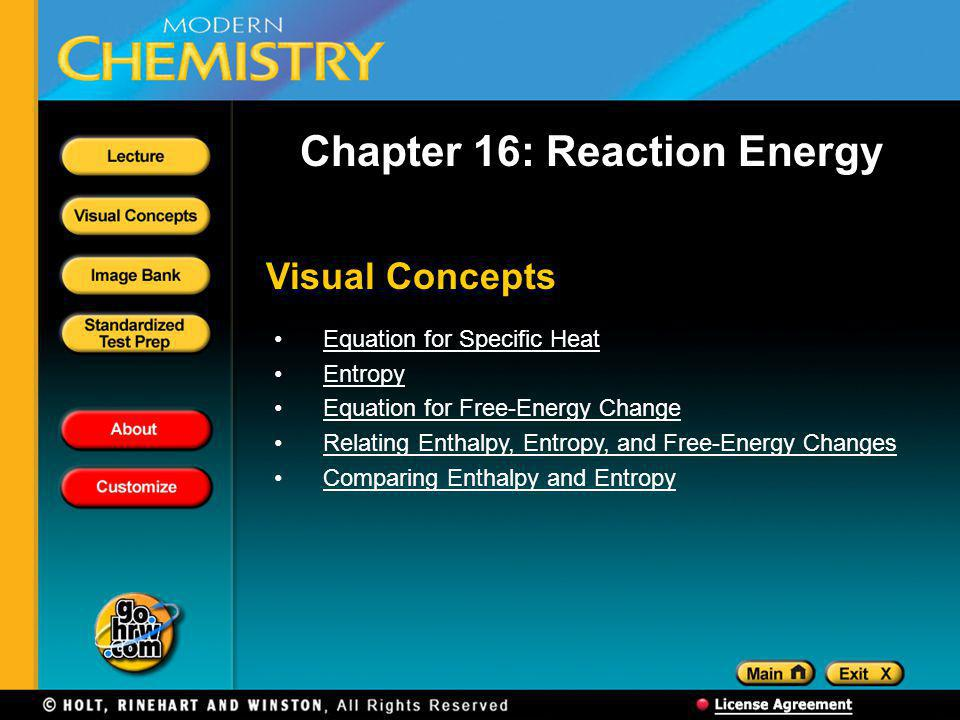 Chapter 16: Reaction Energy