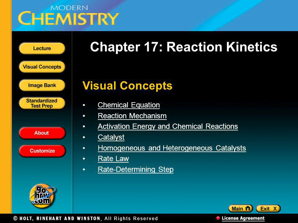 Chapter 17: Reaction Kinetics