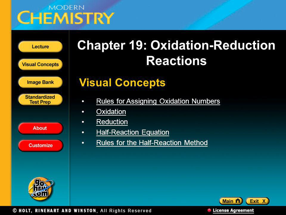 Chapter 19: Oxidation-Reduction Reactions