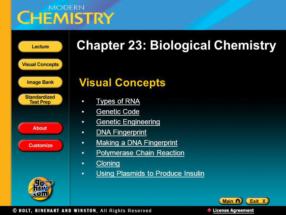 Chapter 23: Biological Chemistry